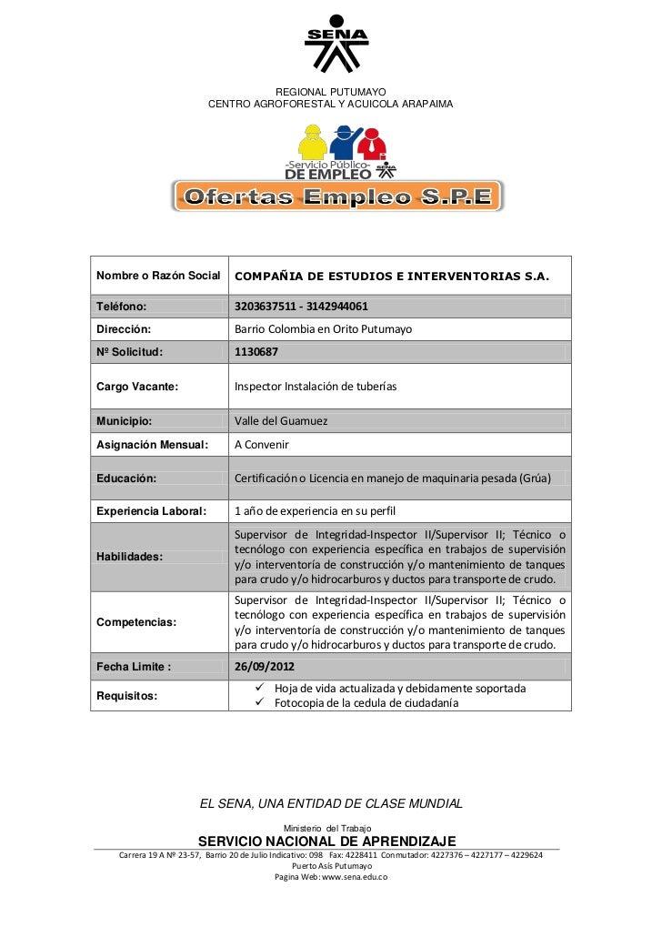 REGIONAL PUTUMAYO                           CENTRO AGROFORESTAL Y ACUICOLA ARAPAIMANombre o Razón Social            COMPAÑ...