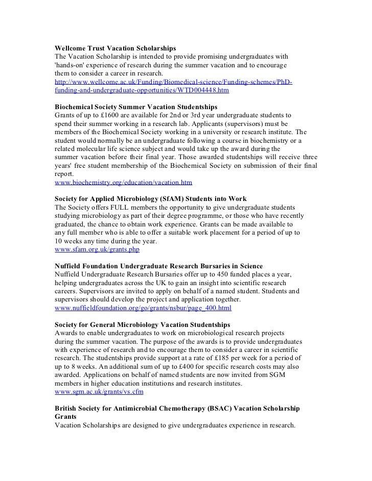 Vacation  Scholarships