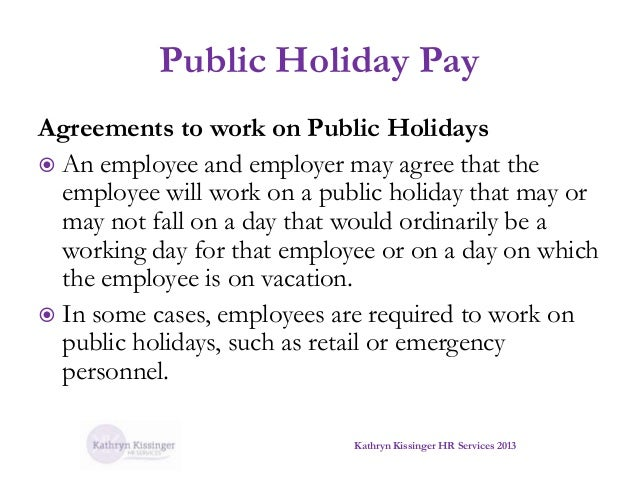 holidays required holiday pay