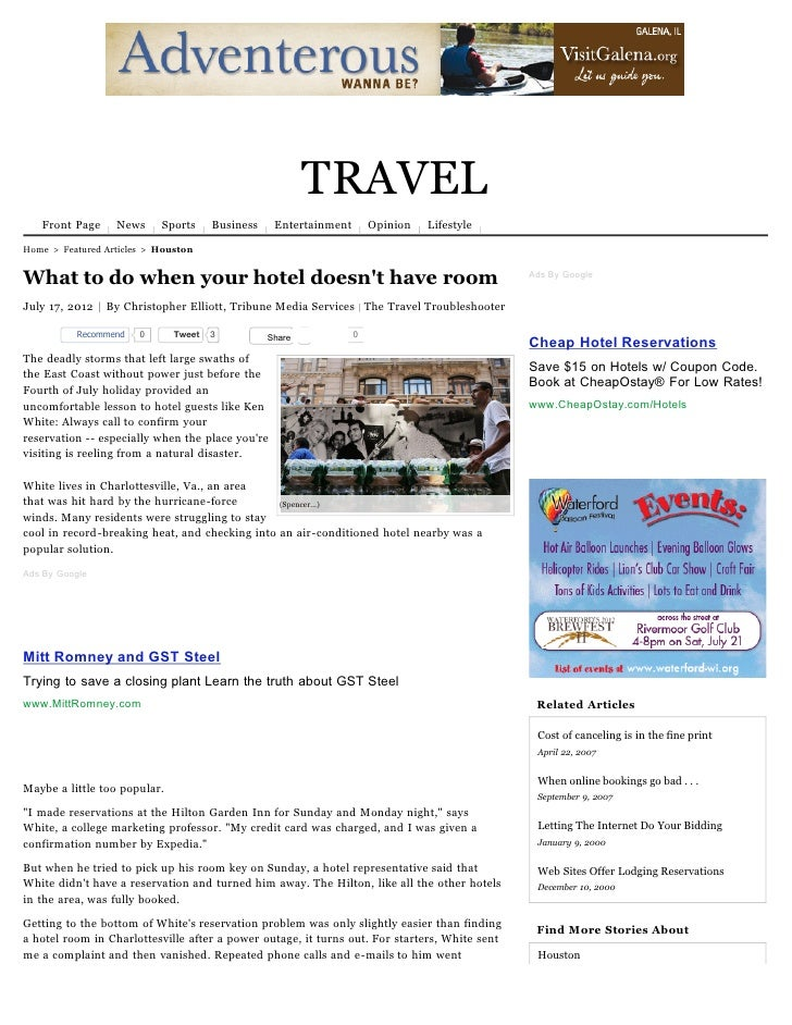 TRAVEL   Front Page     News     Sports     Business    Entertainment       Opinion   LifestyleHome > Featured Articles > ...