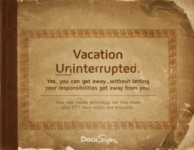Can you ever really get away? No matter how much you plan and prepare for that big vacation, there's always some work docu...