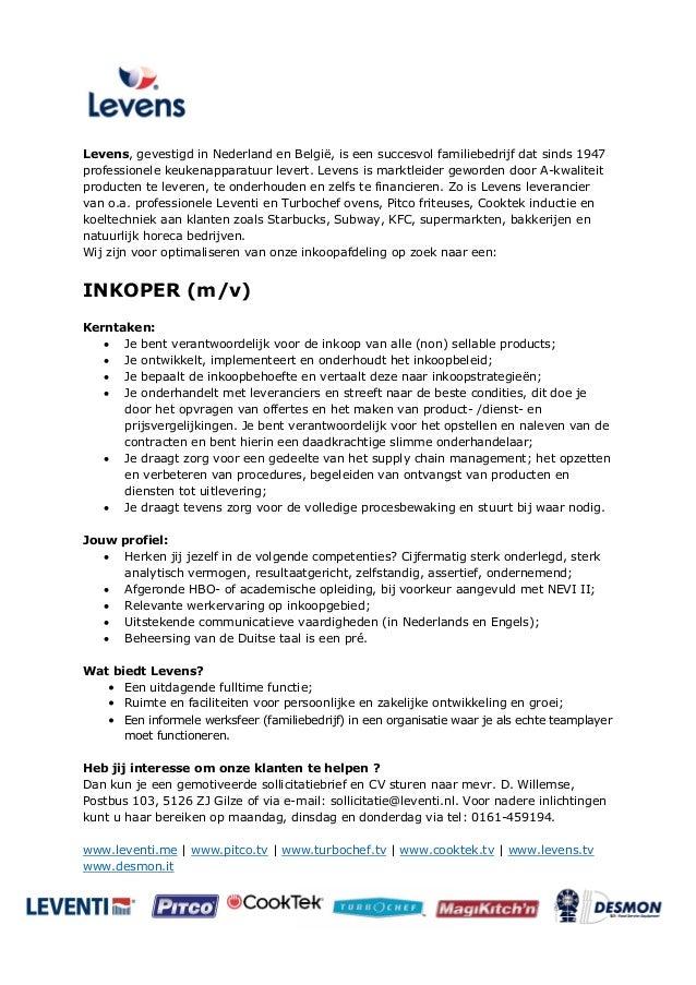 voorbeeld sollicitatiebrief inkoper Vacature Inkoper voorbeeld sollicitatiebrief inkoper