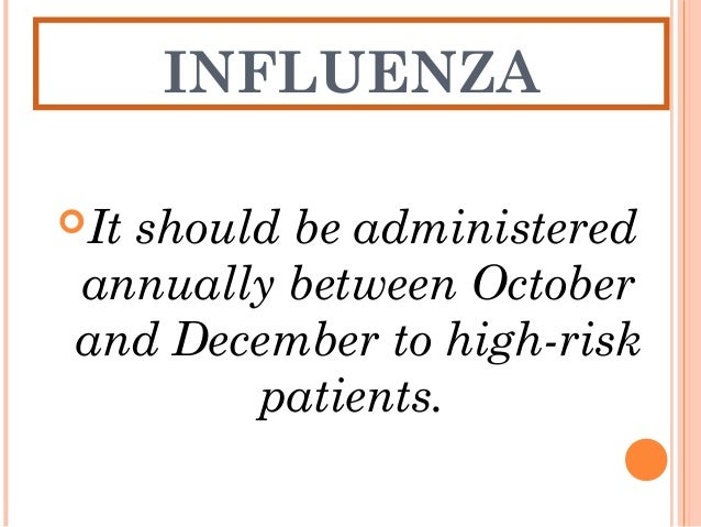 INFLUENZA Women in their second or third trimesters have higher morbidity, from influenza infection. Immunization should...