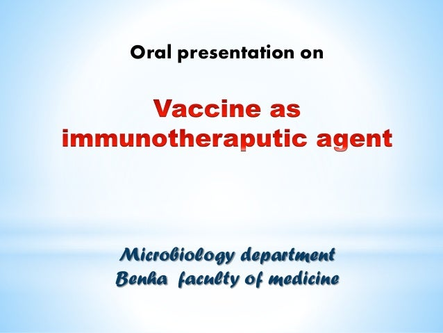 Oral presentation on Microbiology department Benha faculty of medicine