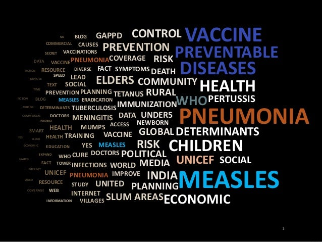 PREVENTABLE  DEATH DISEASES  PNEUMONIA  MEASLES  PREVENTION  SYMPTOMS  TETANUS  IMMUNIZATION  VACCINE  ELDERS  RISK  COMME...