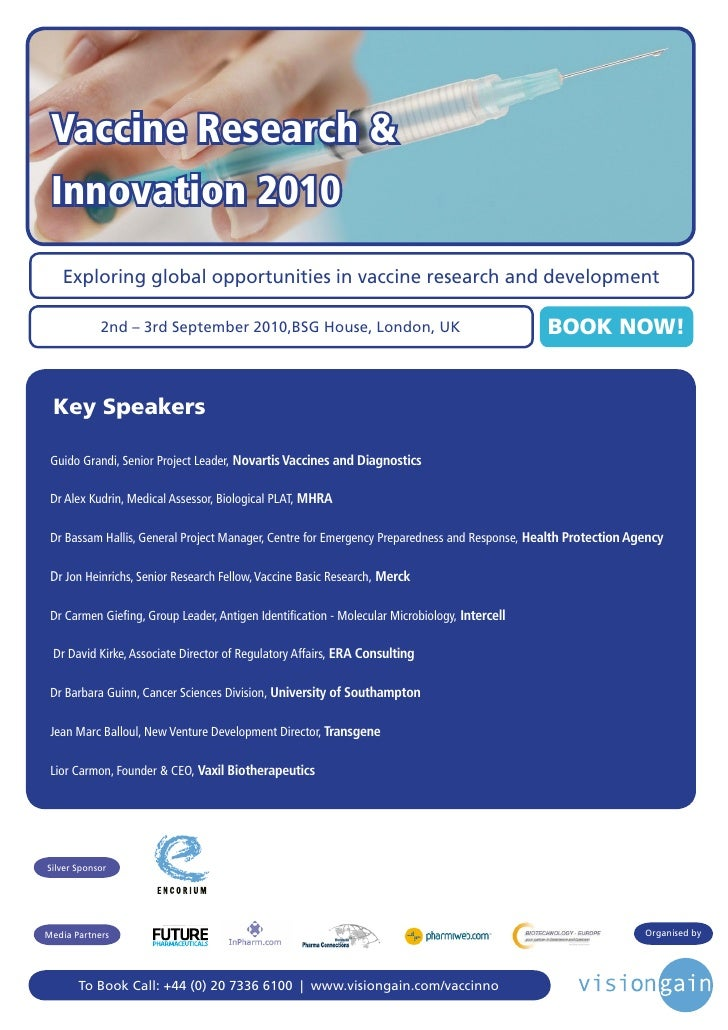 Vaccine Research &  Innovation 2010    Exploring global opportunities in vaccine research and development              2nd...