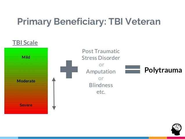 Beneficiary Archetypes TBI Veterans Post 9/11: 20-30+ years old Executive functions affected due to traumatic event (memor...