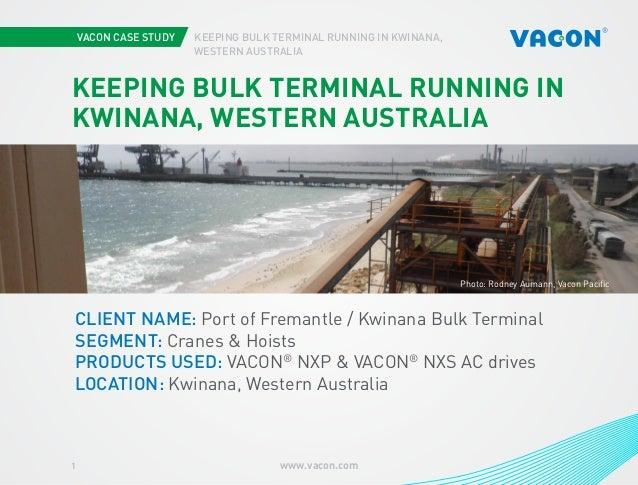 Vacon case study: Keeping bulk in terminal running in