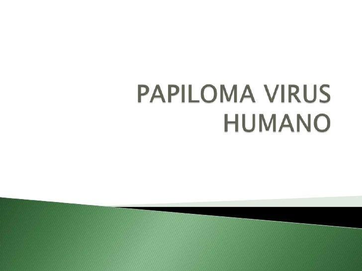PAPILOMA VIRUS HUMANO<br />