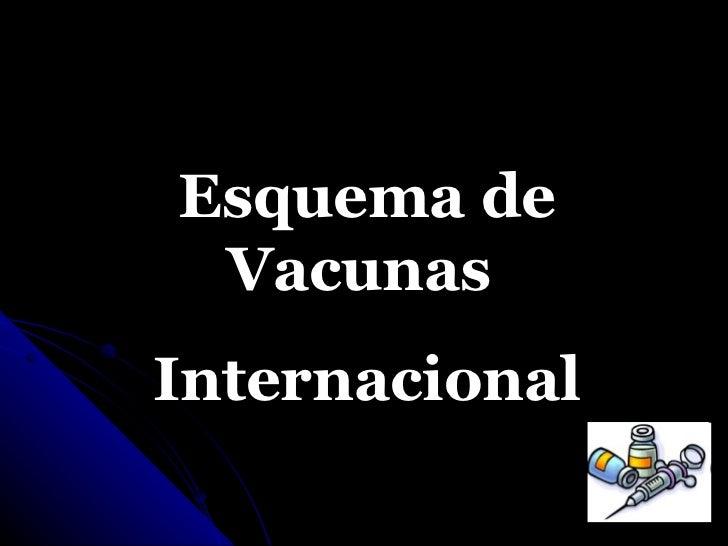 Esquema de Vacunas  Internacional