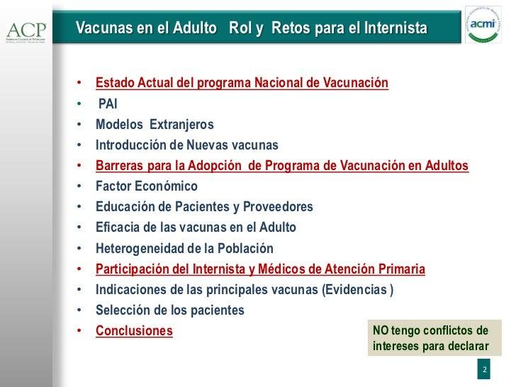 Vacunas para Adultos ACMI- ACP Dr. Bracho