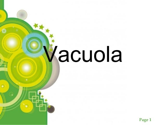 Page 1 Vacuola