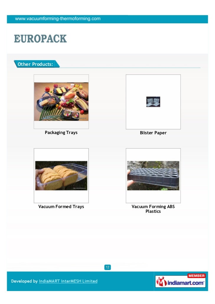 Europack Machines India Pvt Ltd Mumbai Vial Trays