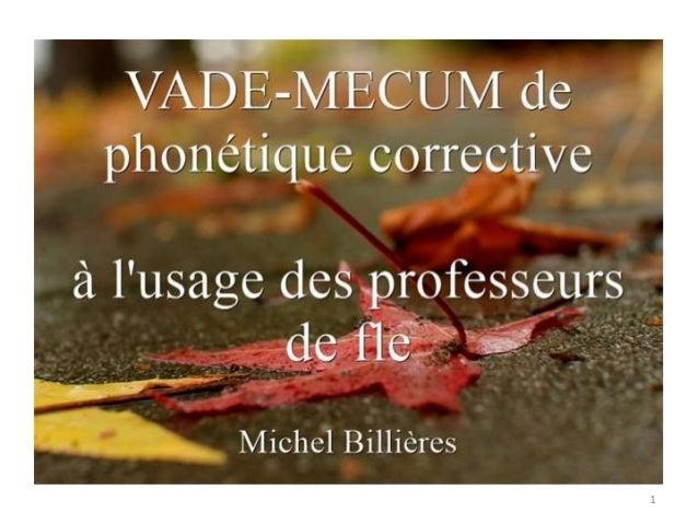 Vade-mecum de phonétique corrective Slide 1