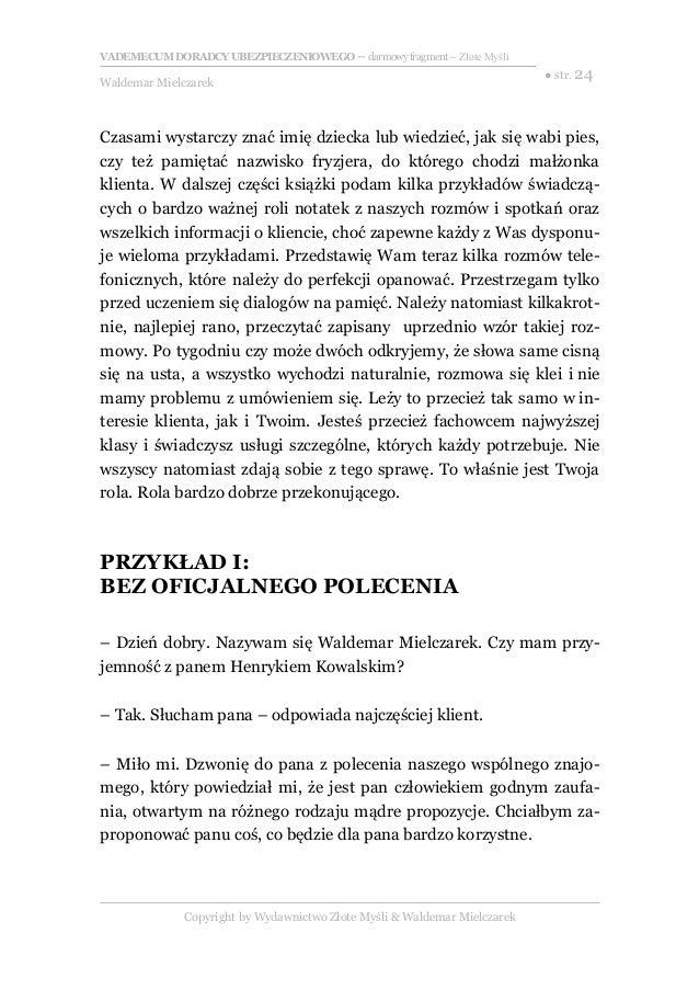 Vademecum Doradcy Ubezpieczeniowego Waldemar Mielczarek