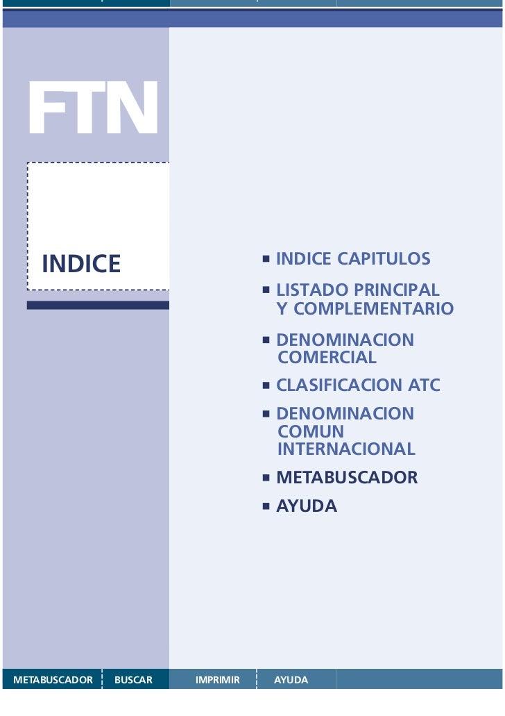 FTN    INDICE                                       INDICE CAPITULOS                                                 LISTA...