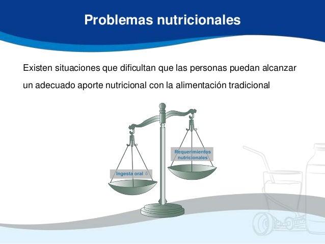 Problemas nutricionalesExisten situaciones que dificultan que las personas puedan alcanzarun adecuado aporte nutricional c...