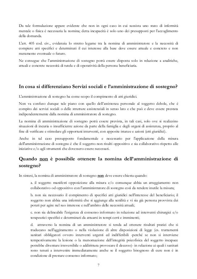 Relazione Periodica Amministratore Di Sostegno.Vademecum Operativo Amministrazione Di Sostegno
