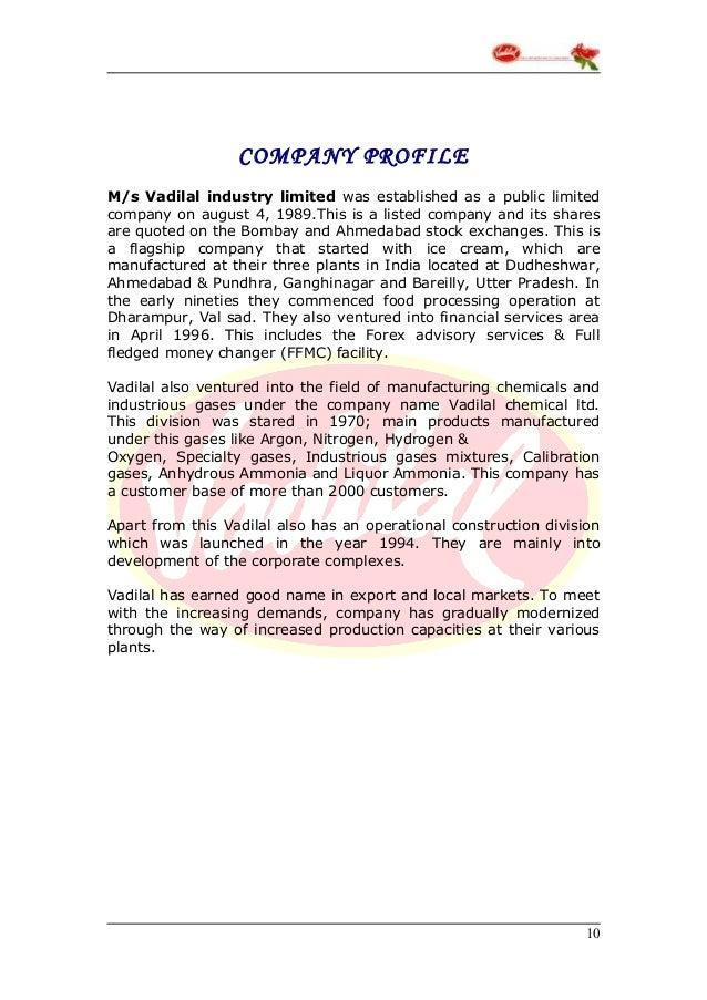 Vadilal forex advisory