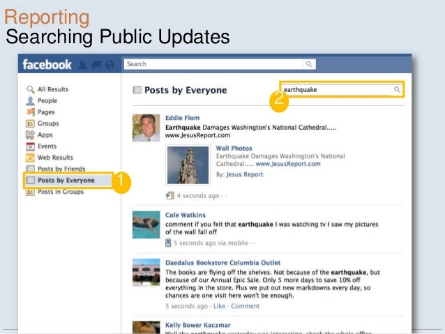 ReportingSearching Public Updates                           2           1