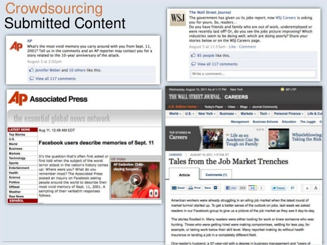 CrowdsourcingSubmitted Content