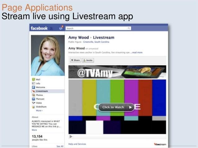 Page ApplicationsStream live using Livestream app