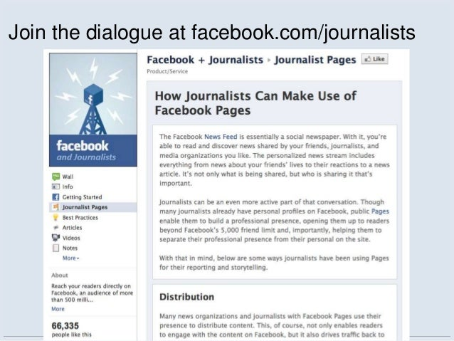 Join the dialogue at facebook.com/journalists