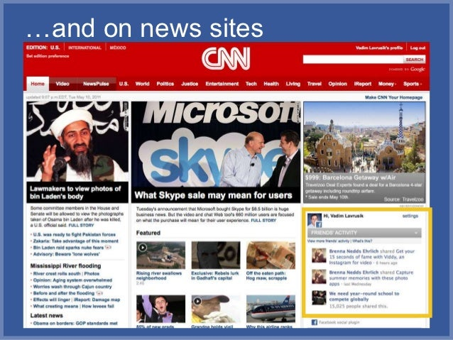 …and on news sites