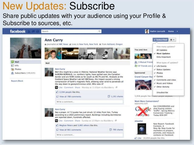 New Updates: SubscribeShare public updates with your audience using your Profile &Subscribe to sources, etc.