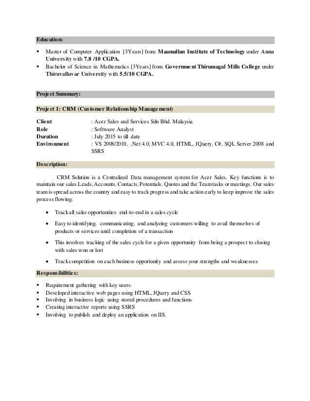 Dive master resume