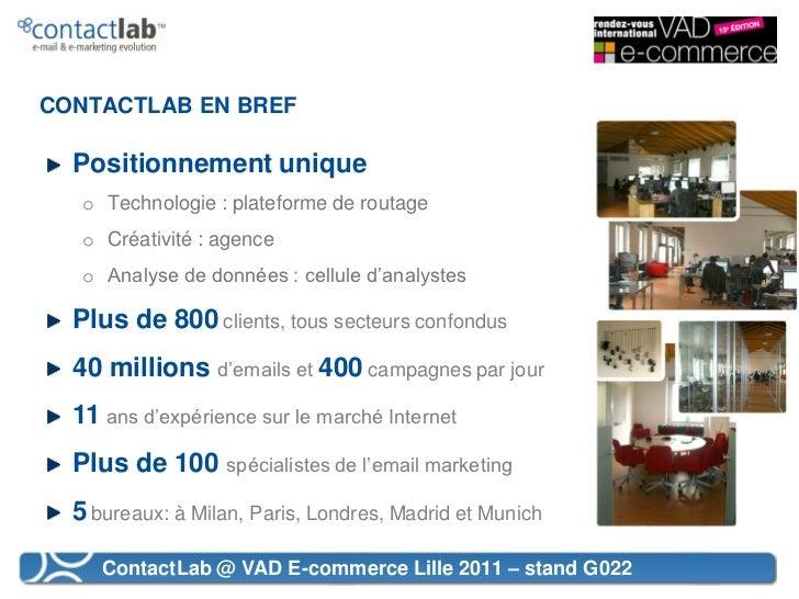 VAD E-commerce 2011 - L'email marketing au service de la VAD  Slide 2