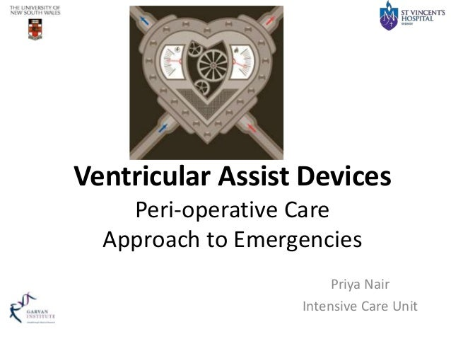 Ventricular Assist Devices Peri-operative Care Approach to Emergencies Priya Nair Intensive Care Unit