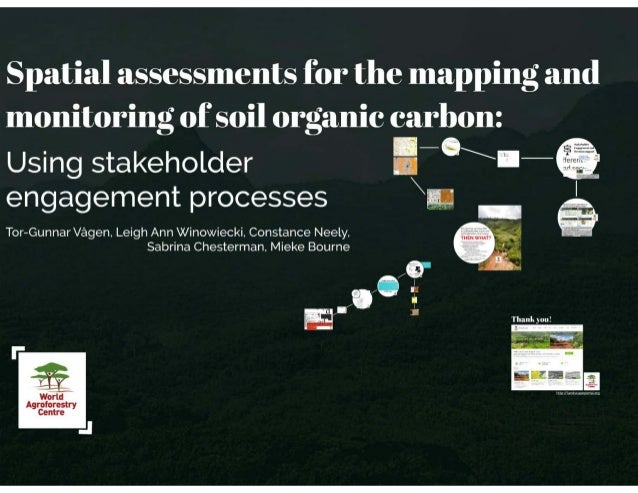 Spatial assessment for the mapping and monitoring of soil organic carbon