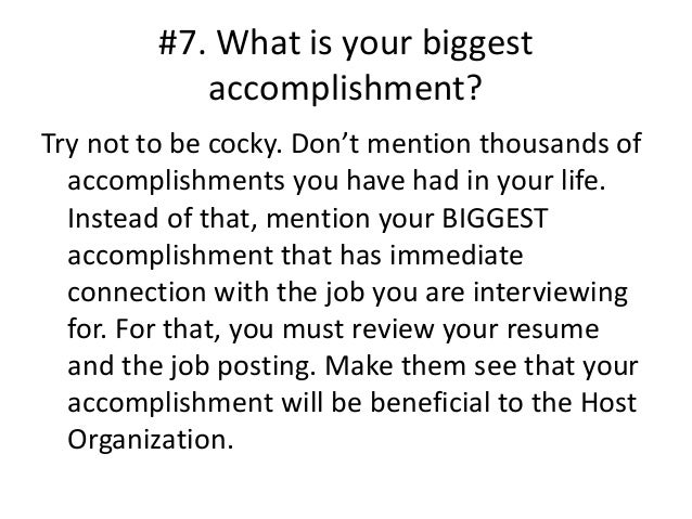 what are your accomplishments