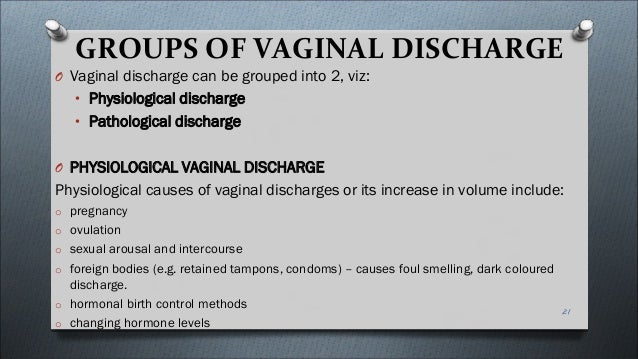 Sexual arousal white discharge