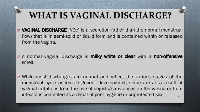 Vaginal secretions taste