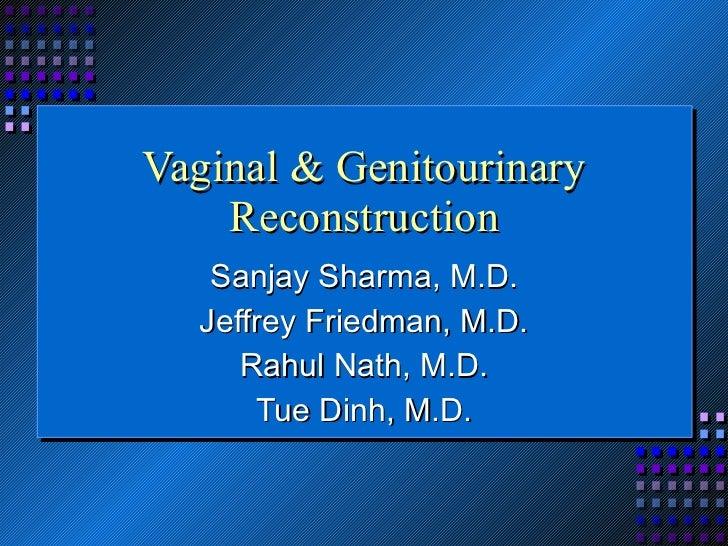 Vaginal & Genitourinary Reconstruction Sanjay Sharma, M.D. Jeffrey Friedman, M.D. Rahul Nath, M.D. Tue Dinh, M.D.