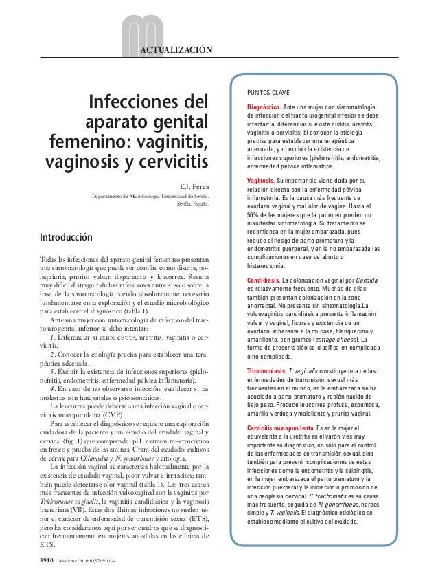 3910 Medicine. 2010;10(57):3910-4 ACTUALIZACIÓN Introducción Todas las infecciones del aparato genital femenino presenta...