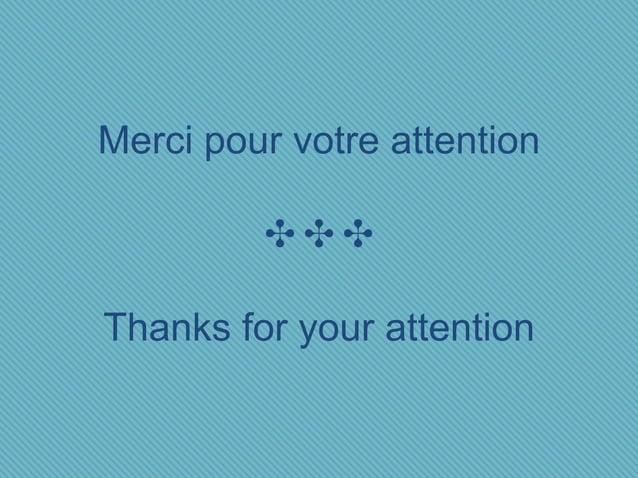 Merci pour votre attention ✣✣✣ Thanks for your attention