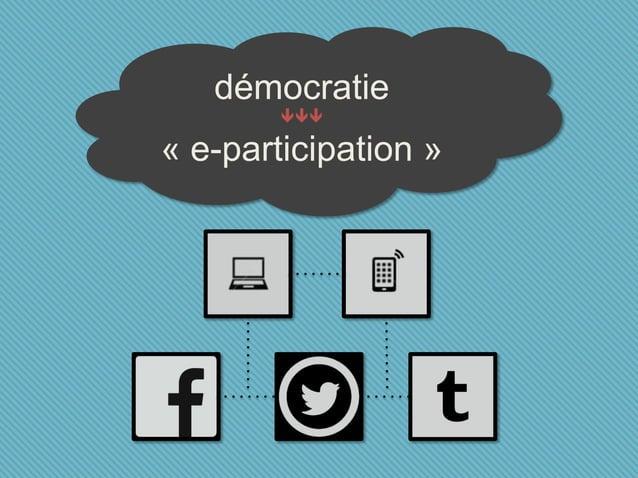 démocratie  « e-participation »