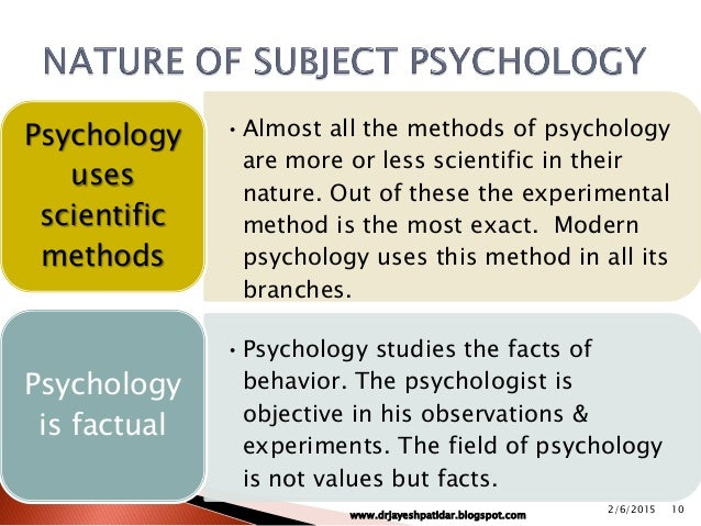"""functions of scientific psychology Where biology and culture intersect lies psychology kowalski and westen, (2011) """"psychology is the scientific investigation of mental processes."""