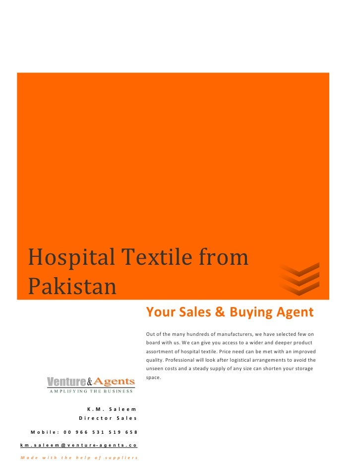 Hospital Textile from    Pakistan                                                        Your Sales & Buying Agent        ...