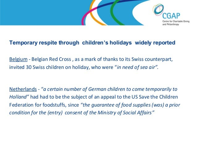 An Appeal From Federation For Children >> Austerity In Another Time Work And Philanthropy In The International