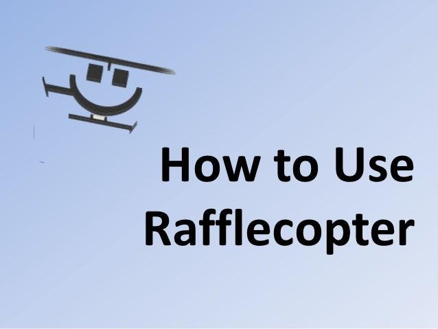 How to UseRafflecopter