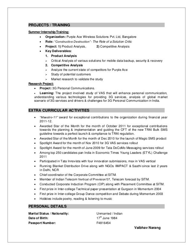 4 - Competitive Resume