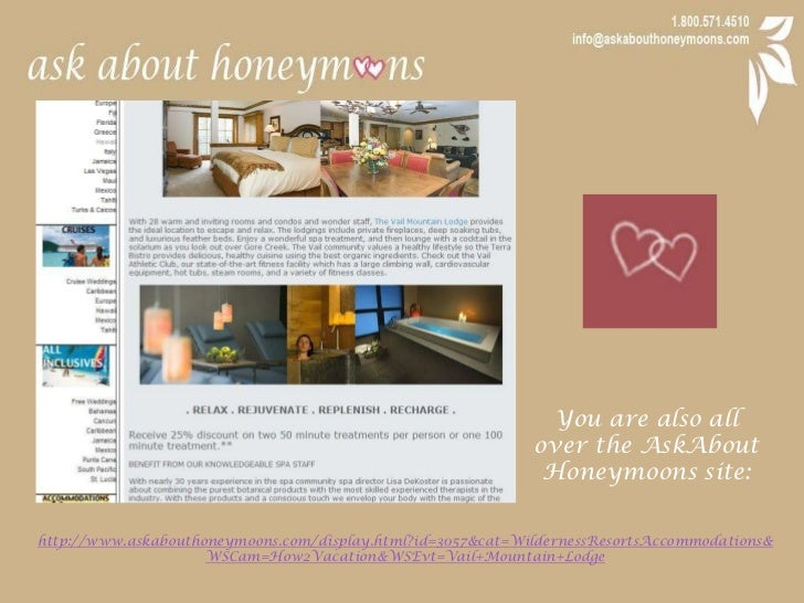 You are also all over the AskAbout Honeymoons site:<br />http://www.askabouthoneymoons.com/display.html?id=3057&cat=Wilder...