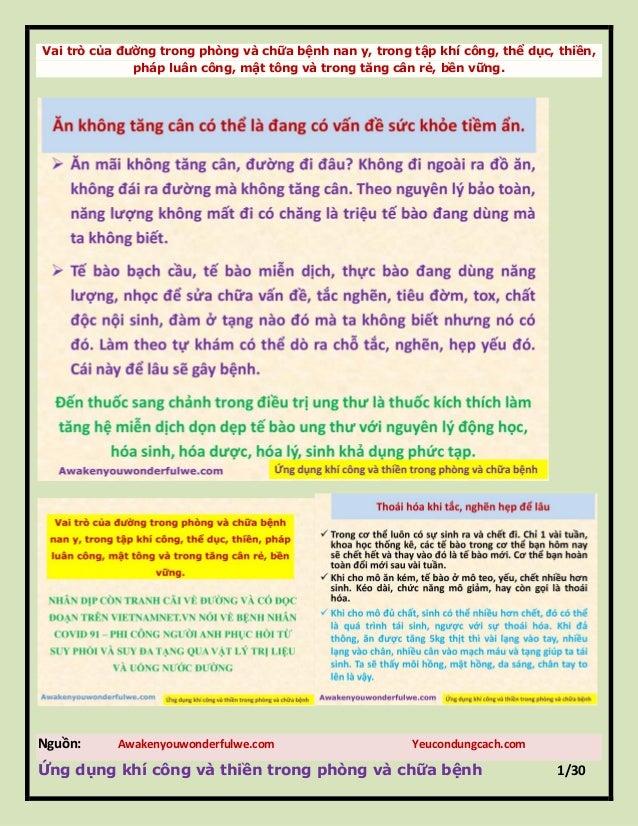 Vai trò của đƣờng trong phòng và chữa bệnh nan y, trong tập khí công, thể dục, thiền, pháp luân công, mật tông và trong tă...
