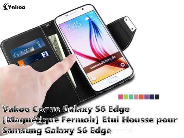 Vakoo Coque Galaxy S6 Edge [Magnétique Fermoir] Etui Housse pour Samsung Galaxy S6 Edge EUR 11.99 http://amzn.to/1NcImi7 G...