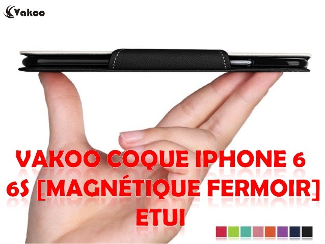 Vakoo Coque iPhone 6 6S [Magnétique Fermoir] Etui EUR 11,99 http://amzn.to/1LPuVGU iPhone 6 6s durable et robuste PU cuir ...