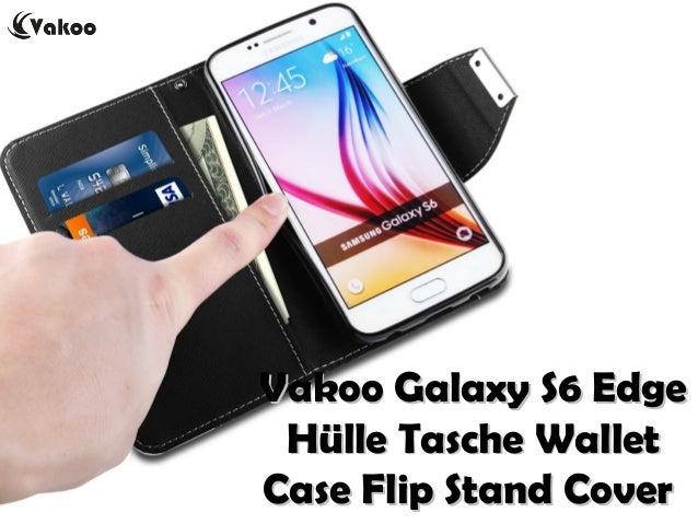 Vakoo Galaxy S6 EdgeVakoo Galaxy S6 Edge Hülle Tasche WalletHülle Tasche Wallet Case Flip Stand CoverCase Flip Stand Cover
